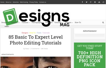 http://www.designsmag.com/2011/07/85-basic-to-expert-level-photo-editing-tutorials/