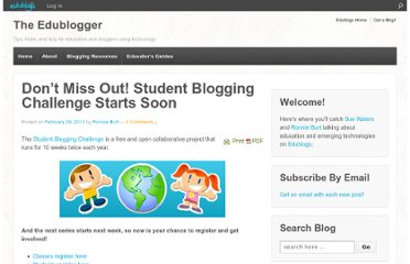 http://theedublogger.com/2012/02/29/dont-miss-out-student-blogging-challenge-starts-soon/