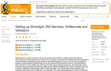 http://www.codeproject.com/Articles/112222/Setting-up-Silverlight-RIA-Services-NHibernate-and