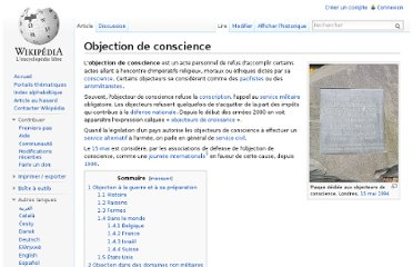 http://fr.wikipedia.org/wiki/Objection_de_conscience