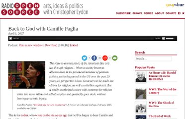 http://www.radioopensource.org/back-to-god-with-camille-paglia/