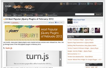 http://www.moretechtips.net/2012/02/24-most-popular-jquery-plugins-of.html