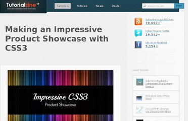 http://tutorialzine.com/2012/02/css3-product-showcase/