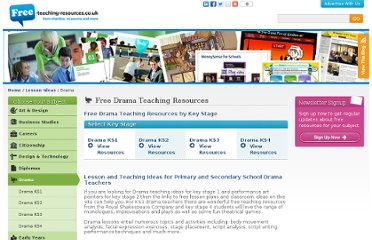 http://www.free-teaching-resources.co.uk/lesson-ideas/drama/index.html