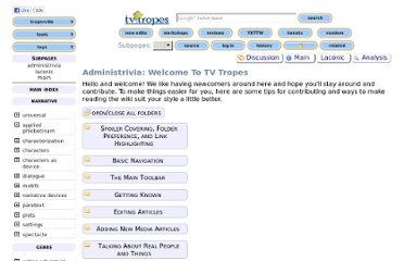 http://tvtropes.org/pmwiki/pmwiki.php/Administrivia/WelcomeToTVTropes?from=Main.WelcomeToTVTropes