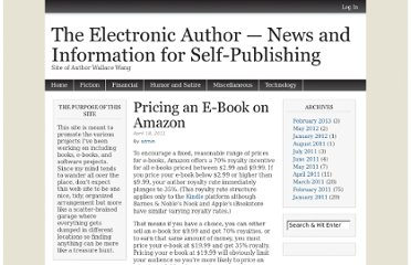 http://www.wallacewang.com/2011/04/pricing-an-e-book-on-amazon/