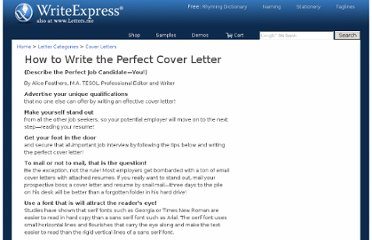 http://www.writeexpress.com/cover-letter.html