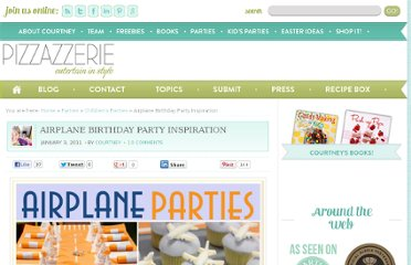 http://pizzazzerie.com/parties/childrens-parties/airplane-birthday-party-inspiration/