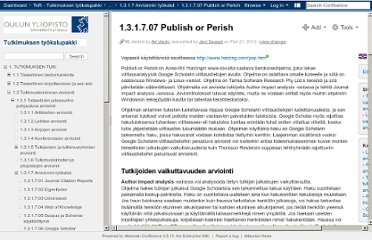 https://wiki.oulu.fi/display/jotut/1.3.1.7.07+Publish+or+Perish