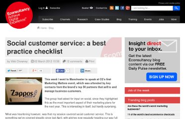 http://econsultancy.com/blog/9181-social-customer-service-a-best-practice-checklist