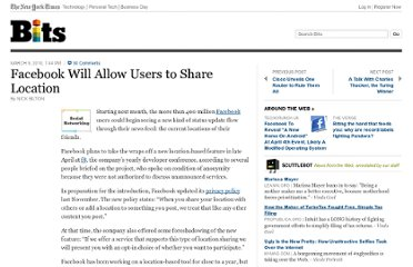 http://bits.blogs.nytimes.com/2010/03/09/facebook-will-allow-users-to-share-location/