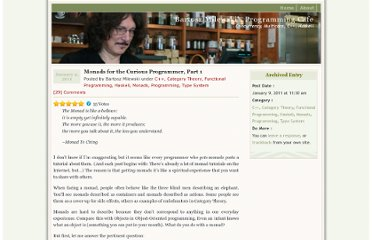 http://bartoszmilewski.com/2011/01/09/monads-for-the-curious-programmer-part-1/