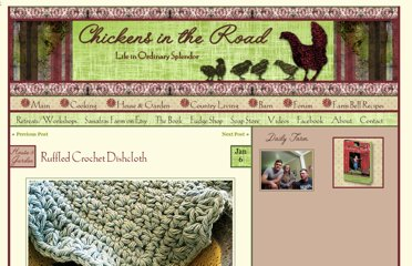 http://chickensintheroad.com/house/crafts/ruffled-crochet-dishcloth/
