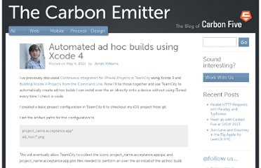 http://blog.carbonfive.com/2011/05/04/automated-ad-hoc-builds-using-xcode-4/