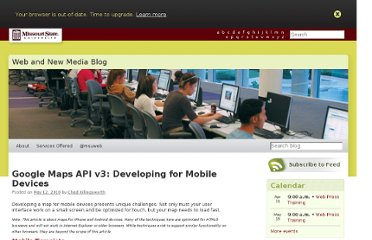http://blogs.missouristate.edu/web/2010/05/12/google-maps-api-v3-developing-for-mobile-devices/