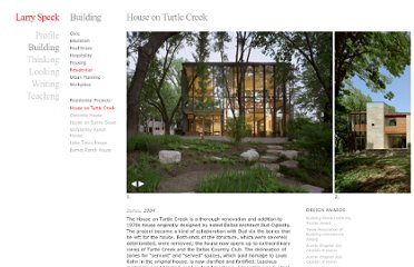 http://larryspeck.com/building/house-on-turtle-creek/