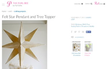 http://www.purlbee.com/felt-star-pendant-and-tree-top/