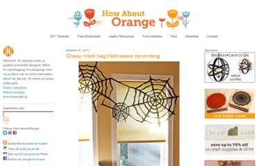 http://howaboutorange.blogspot.com/2011/10/cheap-trash-bag-halloween-decorating.html