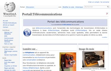 http://fr.wikipedia.org/wiki/Portail:T%C3%A9l%C3%A9communications