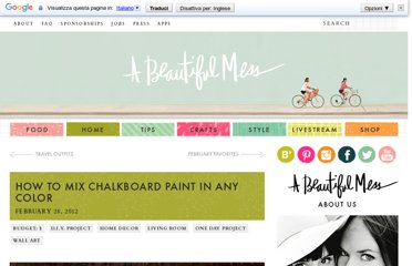 http://abeautifulmess.typepad.com/my_weblog/2012/02/how-to-mix-chalkboard-paint-in-any-color.html