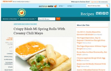 http://www.seriouseats.com/recipes/2012/02/crispy-banh-mi-spring-rolls-with-creamy-chili-recipe.html