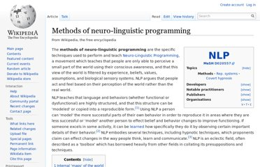 http://en.wikipedia.org/wiki/Methods_of_neuro-linguistic_programming