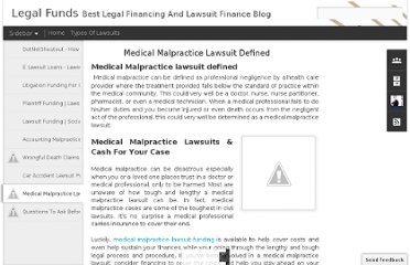 http://legalfunds.blogspot.com/2012/02/medical-malpractice-lawsuit-defined.html