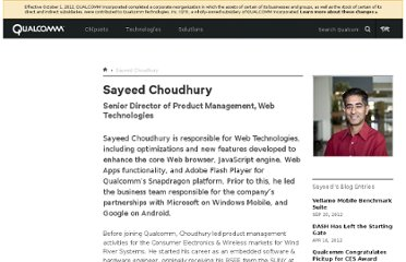 http://www.qualcomm.com/people/sayeed-choudhury