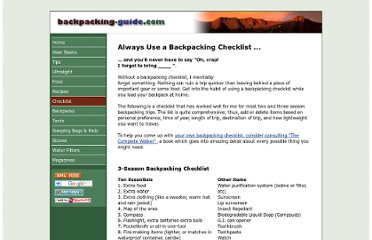 http://www.backpacking-guide.com/backpacking-checklist.html