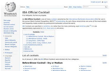 http://en.wikipedia.org/wiki/IBA_Official_Cocktail