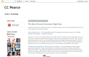 http://www.ccpearce.com/2012/02/best-chrome-extensions-right-now.html