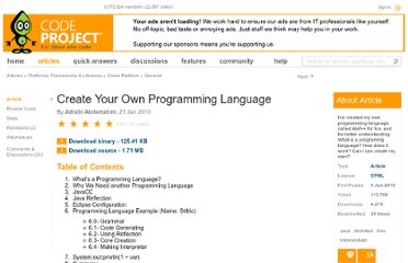 http://www.codeproject.com/Articles/50377/Create-Your-Own-Programming-Language