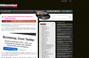 http://www.webresourcesdepot.com/20-beautiful-resources-that-complement-twitter-bootstrap/
