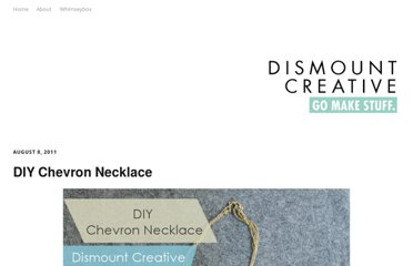 http://www.dismountcreative.com/diy-chevron-necklace