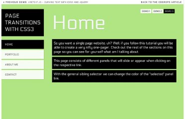 http://tympanus.net/Tutorials/CSS3PageTransitions/index3.html#home