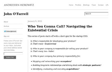 http://john.a16z.com/2012/01/09/who-you-gonna-call-navigating-the-existential-crisis/