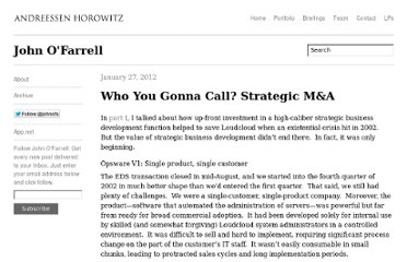 http://john.a16z.com/2012/01/27/who-you-gonna-call-the-importance-of-strategic-business-development/