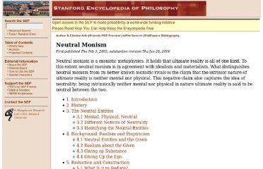 http://plato.stanford.edu/entries/neutral-monism/