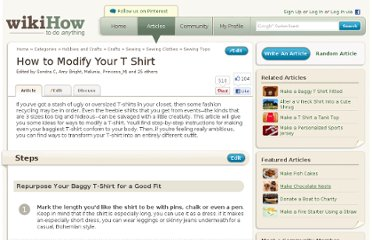 http://www.wikihow.com/Modify-Your-T-Shirt