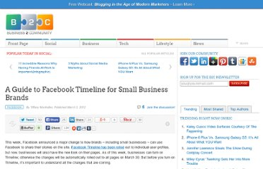 http://www.business2community.com/facebook/a-guide-to-facebook-timeline-for-small-business-brands-0141293