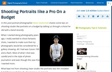 http://digital-photography-school.com/shooting-portraits-like-a-pro-on-a-tight-budget
