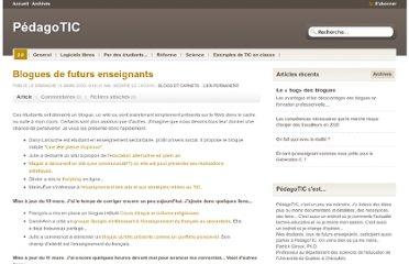 http://pedagotic.uqac.ca/?post/2009/03/15/660-blogues-de-futurs-enseignants