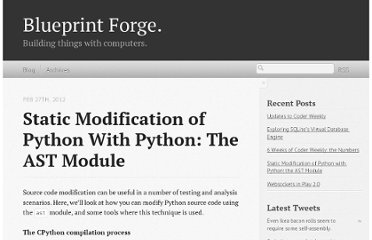 http://blueprintforge.com/blog/2012/02/27/static-modification-of-python-with-python-the-ast-module/