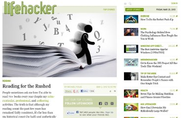 http://lifehacker.com/5889754/reading-for-the-rushed
