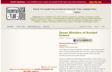 http://www.documentarytube.com/seven-wonders-of-ancient-greece