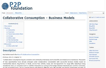 http://p2pfoundation.net/Collaborative_Consumption_-_Business_Models