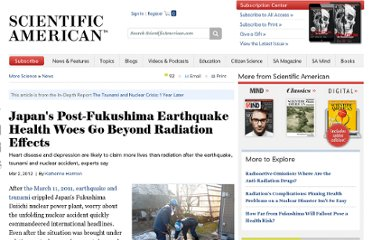 http://www.scientificamerican.com/article.cfm?id=japans-post-fukushima-earthquake-health-woes-beyond-radiation