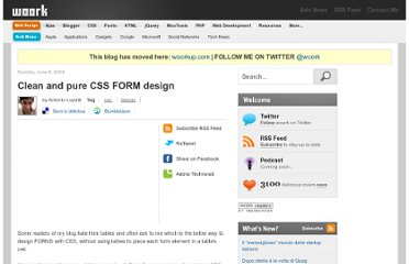 http://woork.blogspot.com/2008/06/clean-and-pure-css-form-design.html