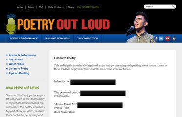 http://www.poetryoutloud.org/poems-and-performance/listen-to-poetry