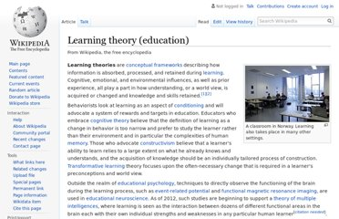 http://en.wikipedia.org/wiki/Learning_theory_%28education%29